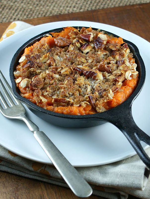 Authentic Suburban Gourmet: { Brandied Yams with Pecan Crumble Topping }