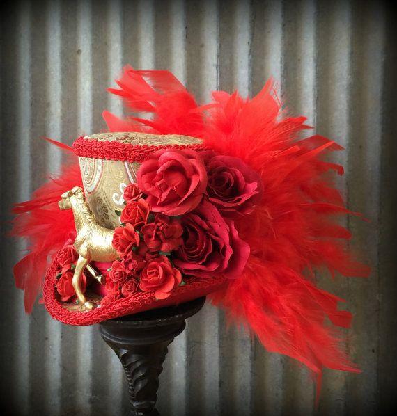 Kentucky Derby Hat Kentucky Derby Horse Race hat Red rose