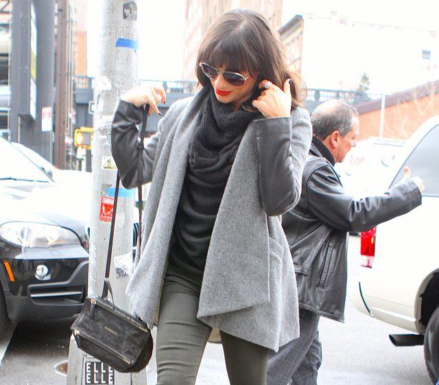 Lea Michelle carries a black Givenchy Mini Pandora Bag in NYC (5 ... 037354ec3abba