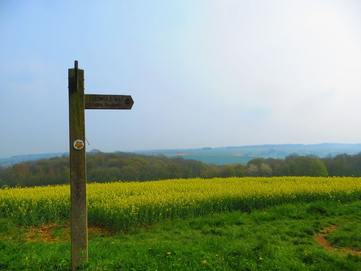 The Cotswolds Way is a national footpath stretching for more than 100 miles through the Cotwolds Area of Outstanding Natural Beauty