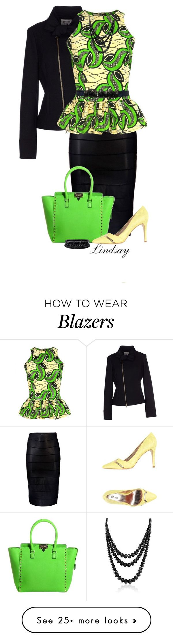 """""""Guess By Marciano Blazer"""" by lindsayd78 on Polyvore featuring moda, GUESS by Marciano, Marciano, FAIR+true, Valentino, Just Cavalli, Bling Jewelry y Spring Street"""