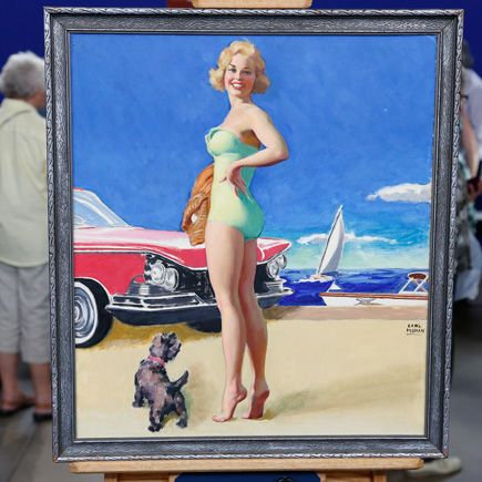 Earl Moran Pinup Painting. ca. 1960   | Roadshow Archive | PBS