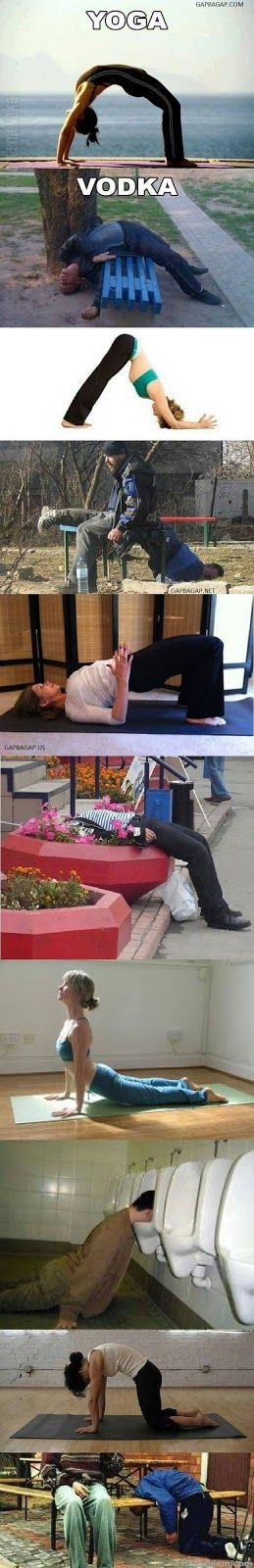Top 10 Funniest Pictures Of Yoga vs. Vodka