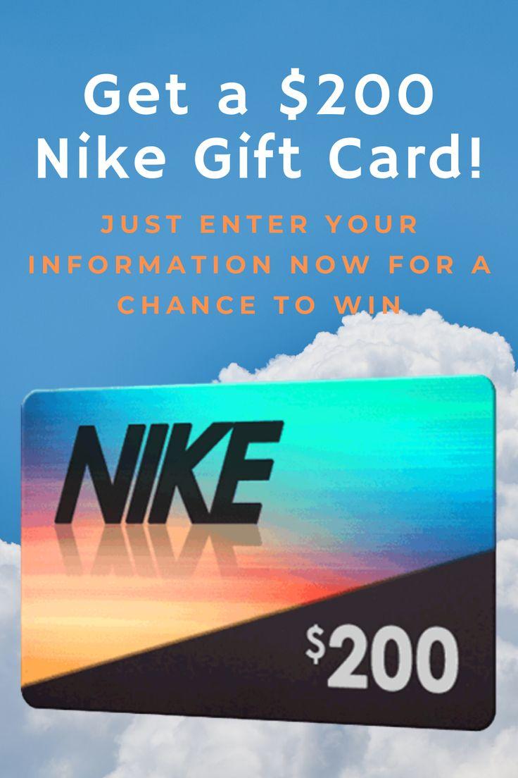Get a 200 Nike Gift Card! in 2020 Nike gift card, Nike