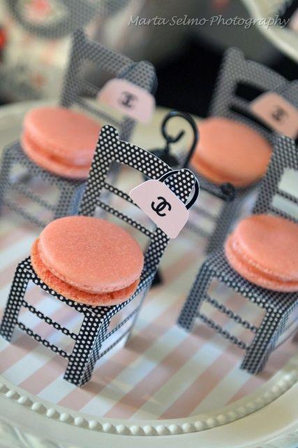 Macarons, Paris, France, Chanel, Chic party, ideas, cute, ideas para fiestas, fashion www.PiensaenChic.com
