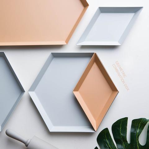 Geometric Decorative Tray