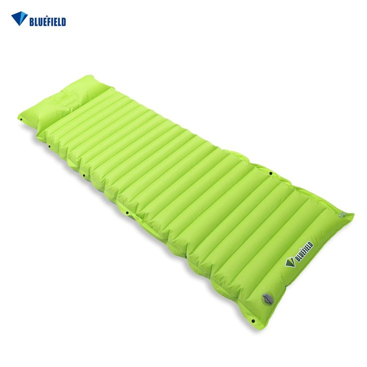 Bluefield Outdoor Inflatable Cushion Sleeping Bag Mat Fast Filling Air Moistureproof Picnic Camping Mat With Pillow Sleeping Pad