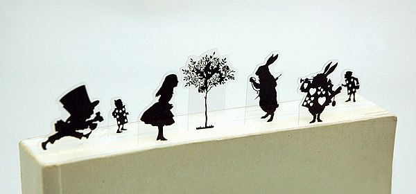 "Lewis Carroll's ""Alice's Adventures in Wonderland"" silhouette bookmarks. #bookmarks #wonderland"