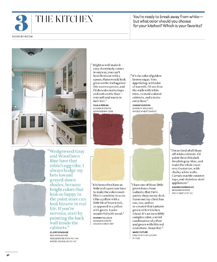 Kitchen House Beautiful: 500+ Favorite Paint Colors