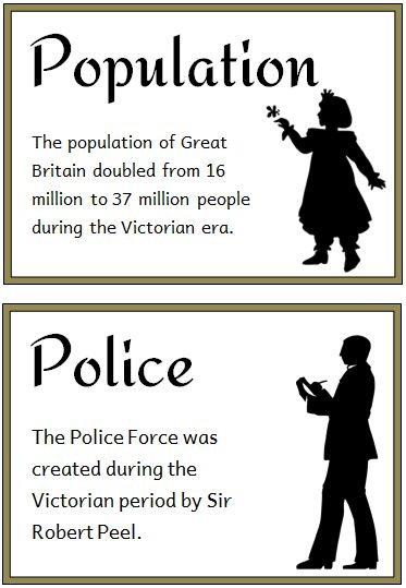 The Victorians Fact Cards - Treetop Displays - Printable EYFS, KS1, KS2 classroom displays & primary teaching resources