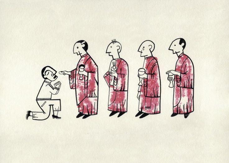 """Roberto Maján. Gula.Obra original, que pertenece a la exposición colectiva """"Pecado Capital"""", organizada por La Fiambrera Art Gallery Acuarela y rotulador sobre papel"""