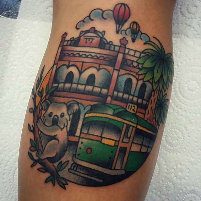 Melbourne Tattoo: Rad Little Melbourne Tattoo By The Lovely @tjday_ She