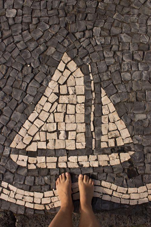 Portuguese coblestone pavement.