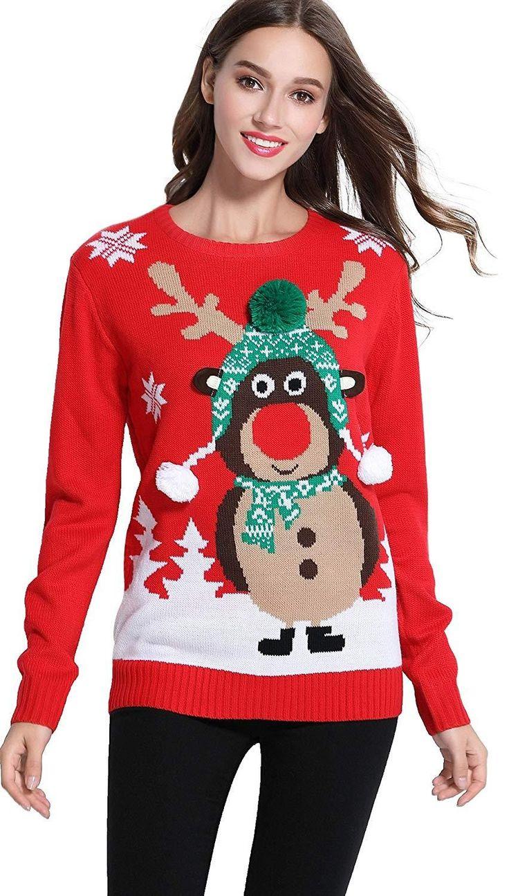 *daisysboutique***** Women's Christmas Cute Reindeer