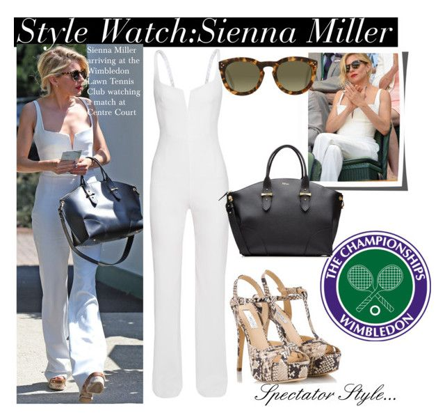 """""""Wimbledon Centre Court with Sienna Miller..."""" by nfabjoy ❤ liked on Polyvore"""