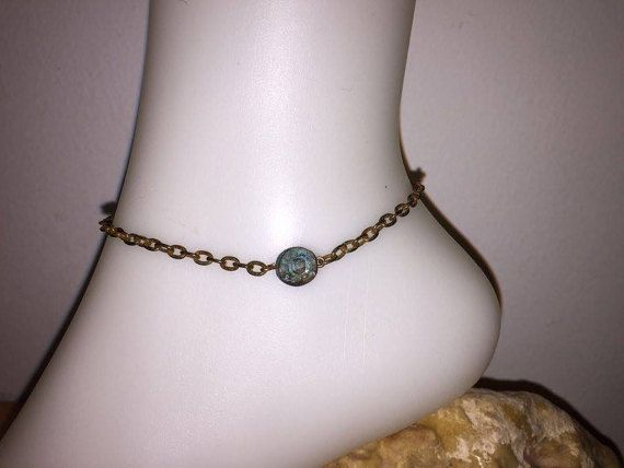 12 best mybeads images on pinterest anklet bangle bracelets and copper anklet greek style verdigris jewelry antiqued ankle bracelet oxydized chain fandeluxe Images
