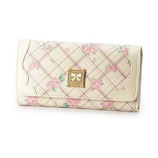 リズリサ(バッグ&ウォレット)(LIZ LISA Bag&Wallet) ローズチェックナガサイフ ($39) ❤ liked on Polyvore featuring bags, wallets, pink wallet and pink bag