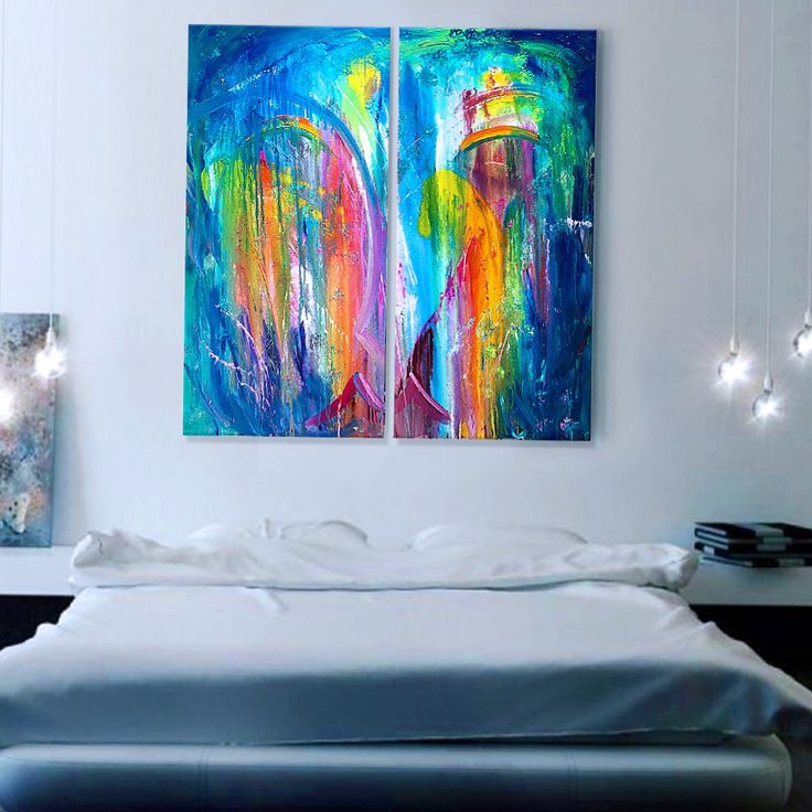Commissioned Piece Of Abstract Wall Art For Bedroom.