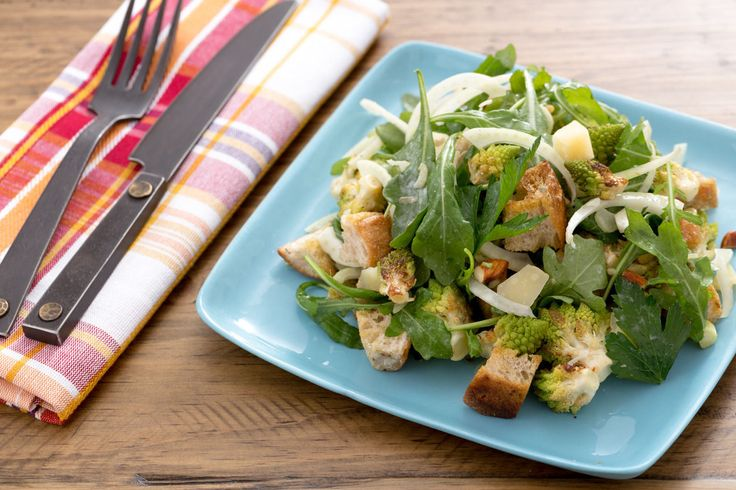 Winter Panzanella  with Roasted Heirloom Cauliflower, Piave Cheese & Fennel