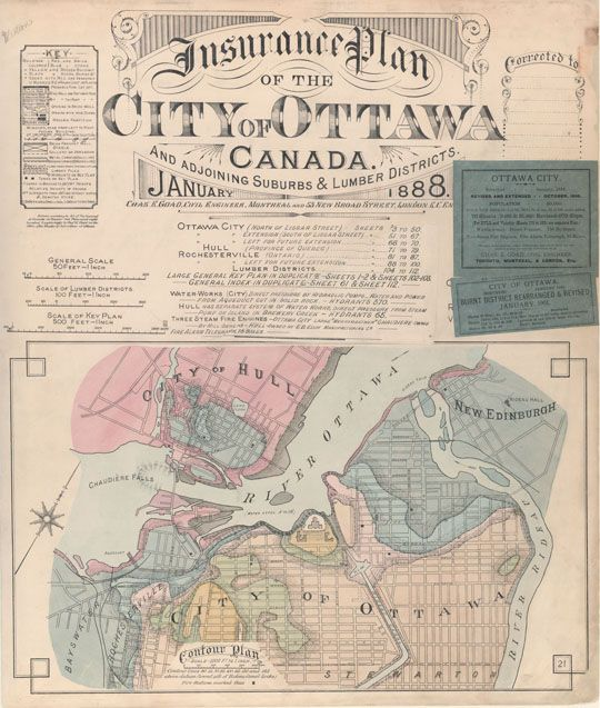 Ottawa fire insurance maps January 1888
