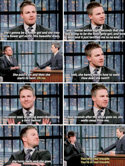 Stephen Amell on Late Night with Seth Meyers