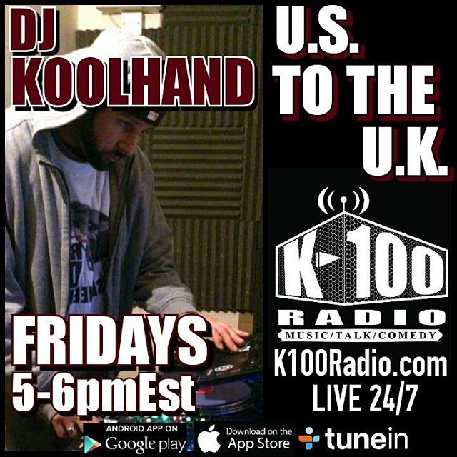 Today at 5pmEst its @DJ_Koolhand_ in the mix on the US to the UK #mixshow on…