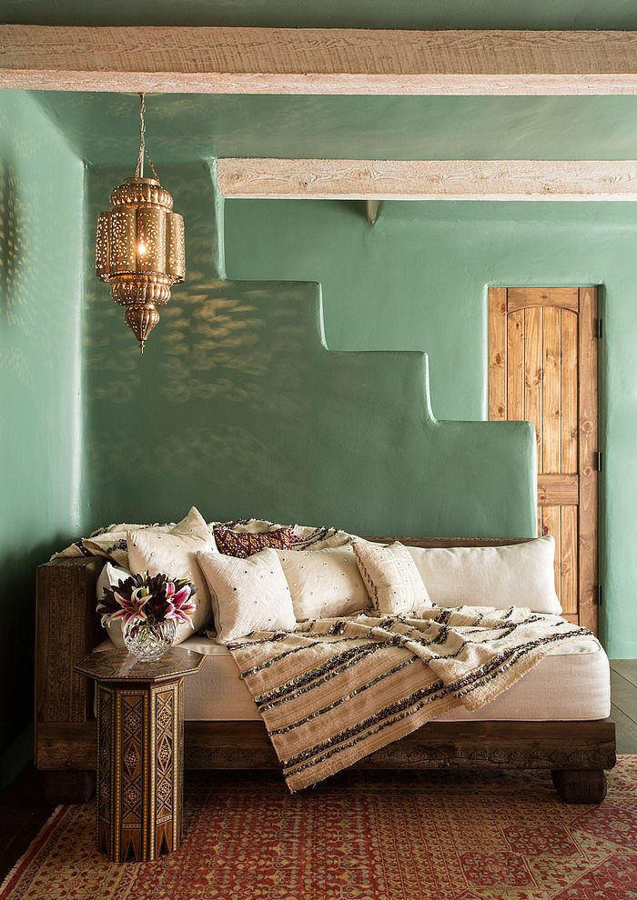 Boho Room in Santa Fe Hacienda by Chandler Prewitt Design