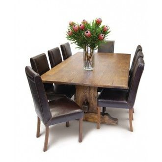 Recycled Solid Timber Dining Table with Regular 4cm Top