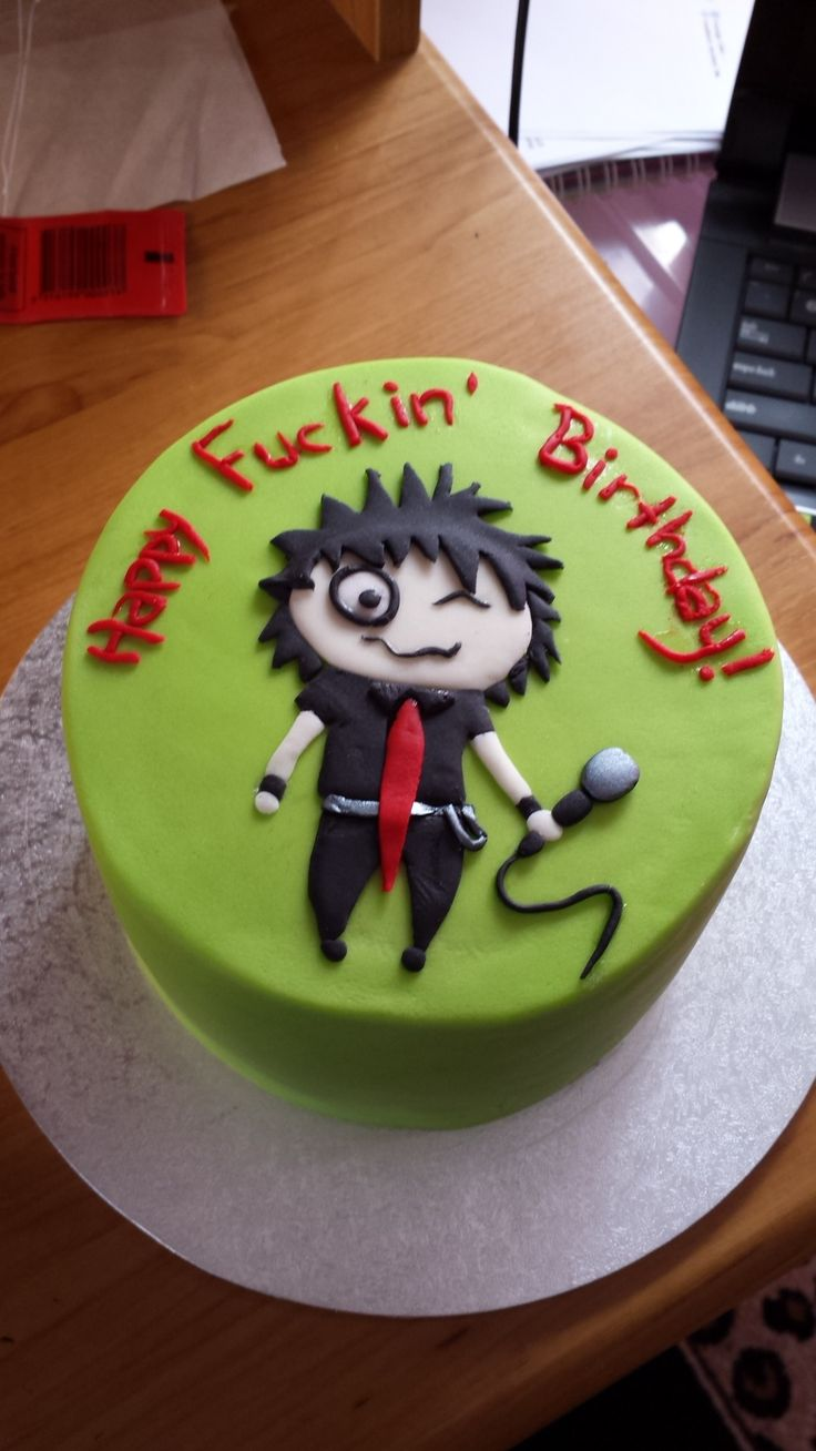 Green Day Billie Jo Armstrong Birthday Cake Cakes Made