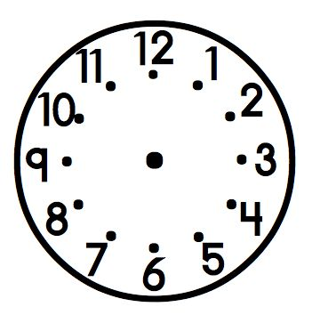 Clock pattern... print out on cute paper and use in the classroom for schedule of extracurricular activities