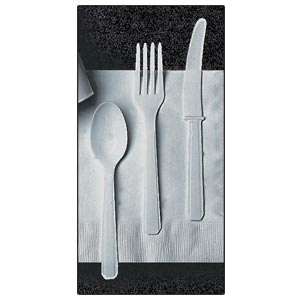 Plastic Cutlery (Silver). Extra Heavy Duty Silver Cutlery comes 24 per package. Choose from either Forks, Spoons, Knives or an equal combination of all three (8 of each).