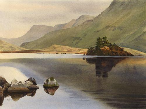 Llynnau Cregennen, an original watercolour painting by Rob Piercy