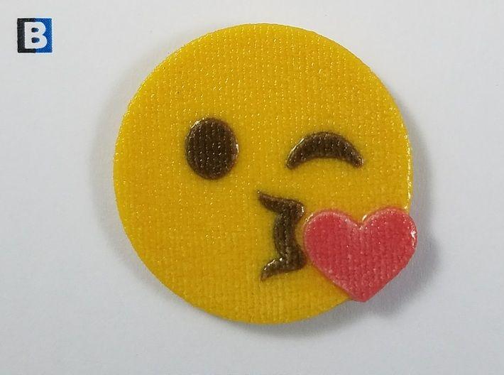 Emoji Blowing a Kiss Emoji 3d printed