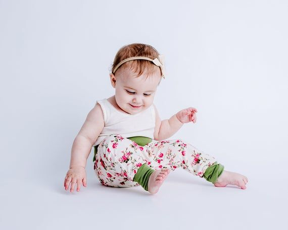 Toddler Harems Trendy Baby Clothes Flowers Harem Pants
