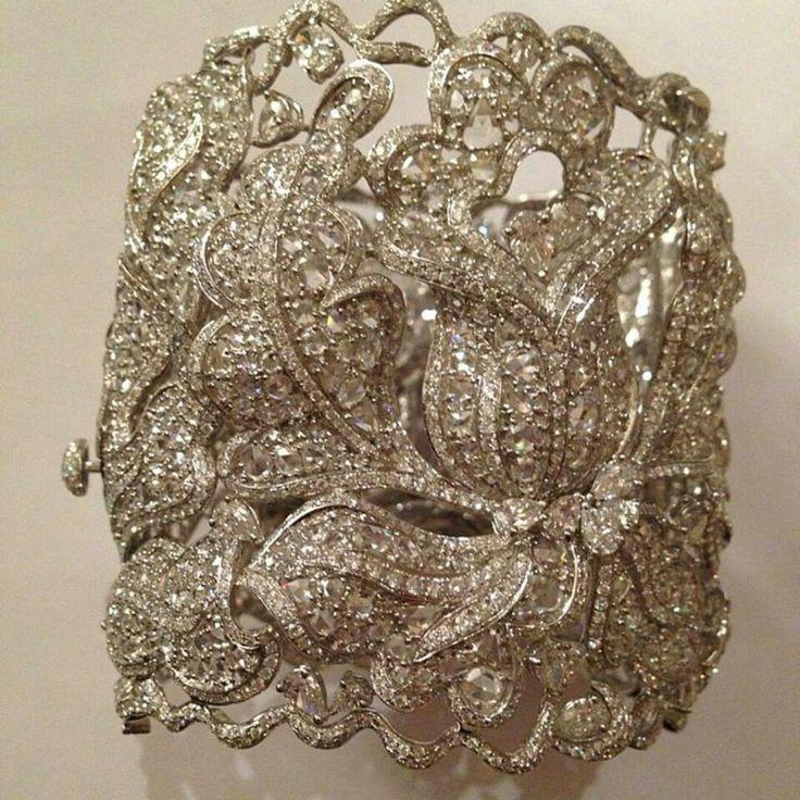 Lorraine Schwartz diamond lace cuff