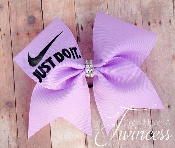 Light Purple Nike Cheer Bow by OnceUponATwincess on Etsy