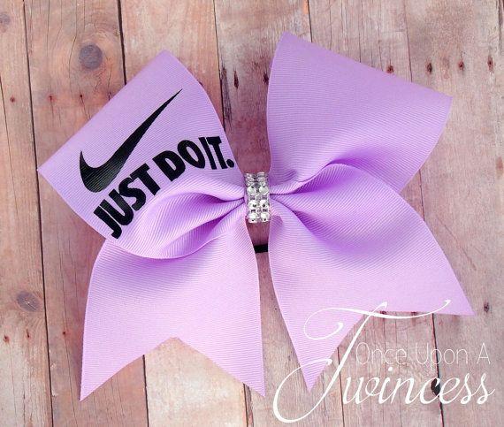 Nike Cheer Bow  Light Purple cheer bow by OnceUponATwincess