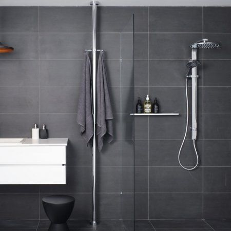 rack vertical rail rails nickel small shelf towel chrome brushed bathroom wood bar