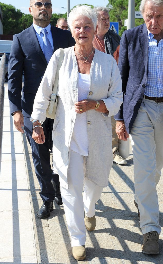 Judi Dench from Street Style: 2014 Oscar Nominees Dressed Down
