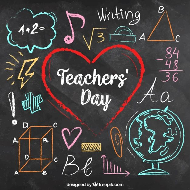 Download Teachers Day Written On A Chalk Board In Colourful Chalks For Free Teachers Day Card Happy Teachers Day Teachers Day Card Design