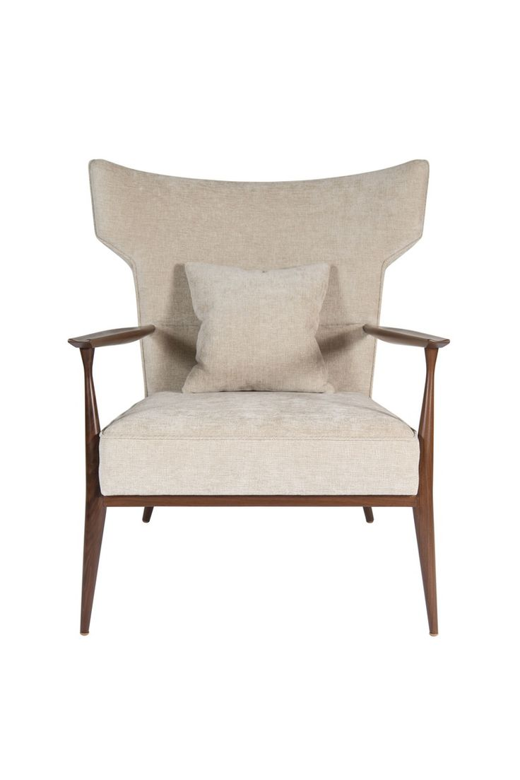Custom modern chippendale wing chair by ethan allen at 1stdibs - Morris Winged Back Armchair Modern Living Supplies