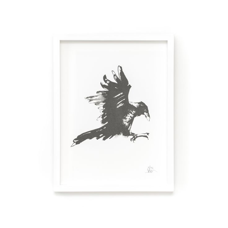 Raven Fine Art Print on Paper Teemu Järvi Illustrations http://www.teemujarvi.com/en/shop/paper-prints/80-raven.html