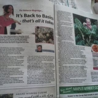 In the Hinterland Times cooking LIVE at the Real Food Festival 2013 #CookingwithBek #authorbekmugridge #realfoodfestival