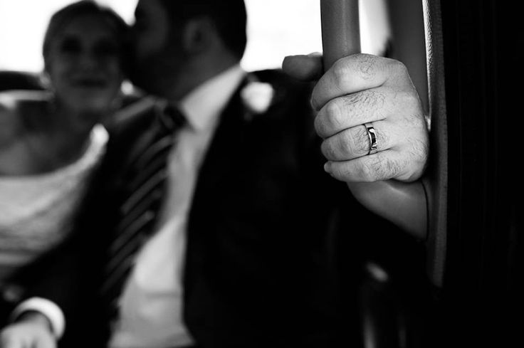 London wedding photography by Rebecca Portsmouth - a bride and groom in a London black cab