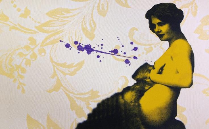 'Money Shot' Silkscreen with glitter. Edition of 6