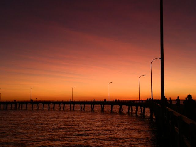 A KILLER combination of jetty, #Sunset and #Australia's HIGHEST tide! #Derby #WesternAustralia