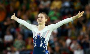Great Britain's Bryony Page has taken a silver medal in the women's trampoline…