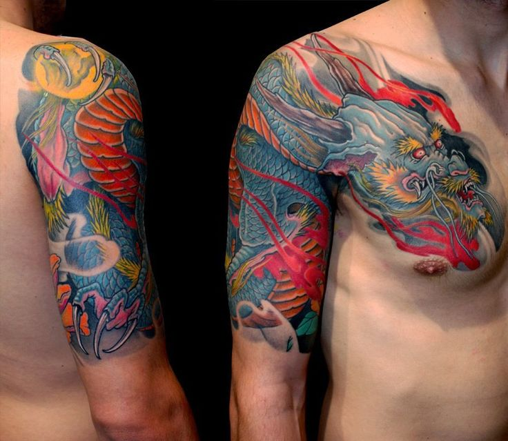24 best small japanese dragon shoulder tattoo images on for Small japanese tattoos