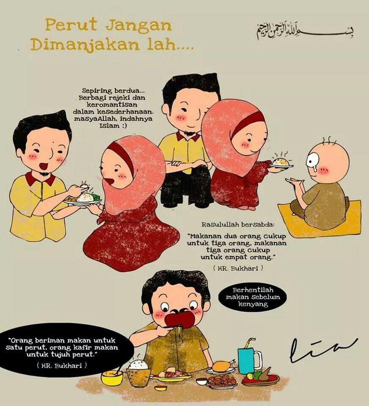 Berhenti makan sebelum kenyang
