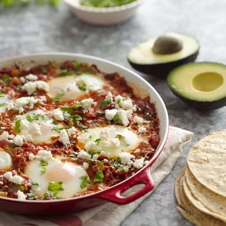 One Pan Huevos Rancheros with fire roasted tomatoes | Muir Glen ...